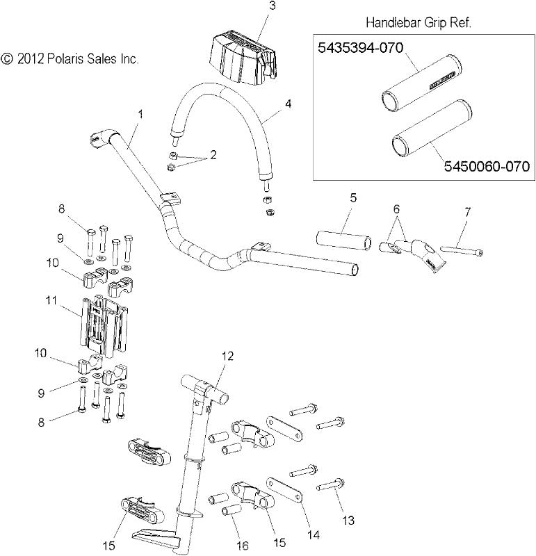 Qty 1 Polaris BLOCK-HANDLEBAR RISER 89MM